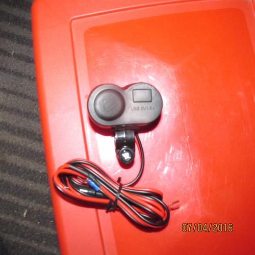 cargador usb - encendedor moto
