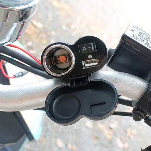 cargador usb moto universal viaje celular gps bmw hd 883