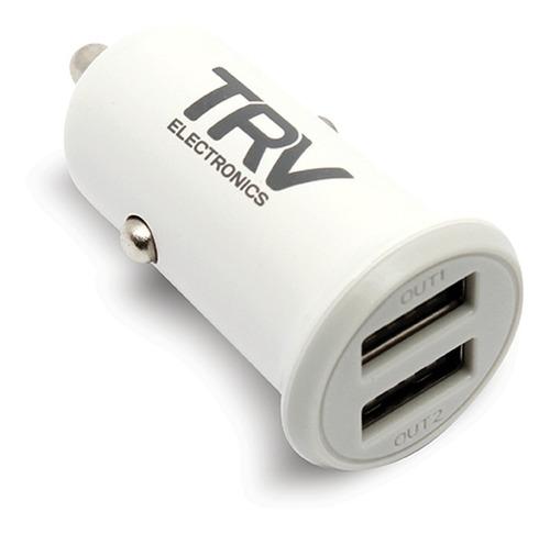 cargador usb para auto - trv - 3,4a total - carga tu celular