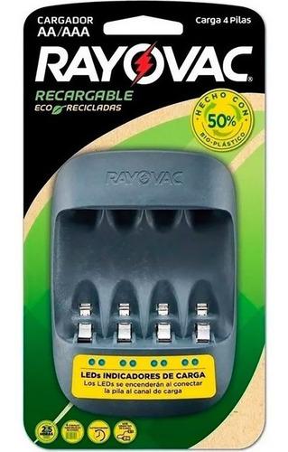 cargador usb rayovac carga rapida pilas aa aaa eco reciclado