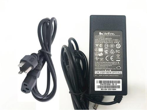cargador verifone original vx510 vx520 vx670+cable de poder