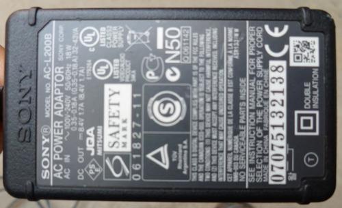 cargador video camara ac-l200b