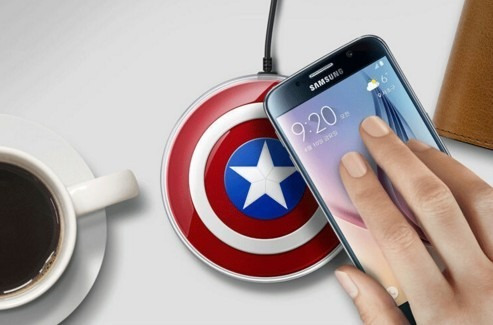 cargador wireless capitan america samsung s6 s7 edge plus