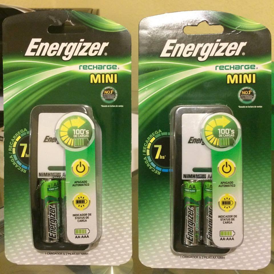 Cargador y baterias recargables energizer aa y aaa 2 pilas for Pilas recargables aa