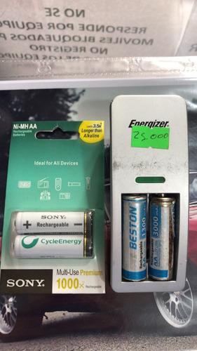 cargador y baterías sony