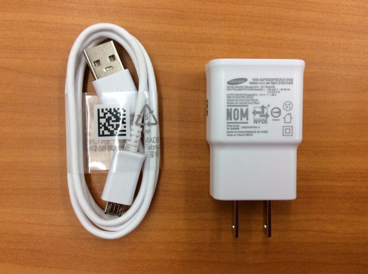 Cargador Y Cable Usb Samsung Original S4 S5 Note 3 J7 J5