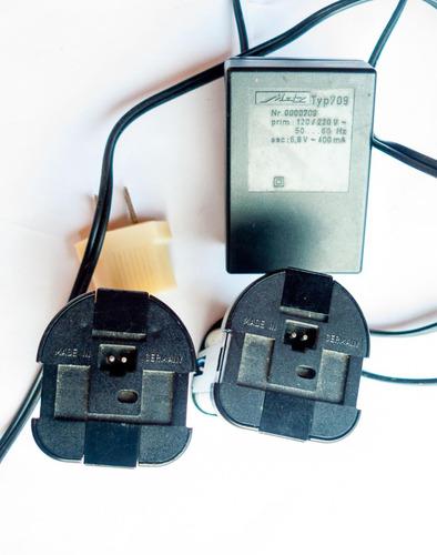 cargador y pilas flash metz hechos en alemania