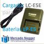 Cargador Lc-e5e Para Baterias Canon Lp-e5 Xsi T1i Xs X2 X3