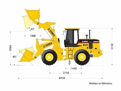 cargadores de rueda frontal xgma xg935 3 ton motorman m4q