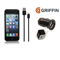 Kit Cargador Griffin 3 En1 Para Iphone 5/5s/5c 100% Original