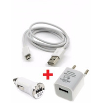 Cargador Pared Auto + Cable Usb Samsung Sony Lumia Moto G Lg