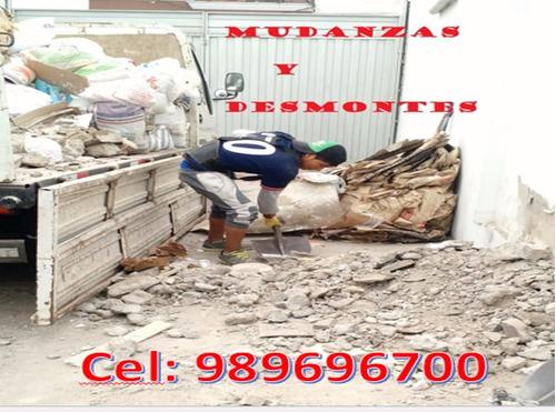 cargo desmonte & limpieza de techo, mudanzas fletes 24 horas