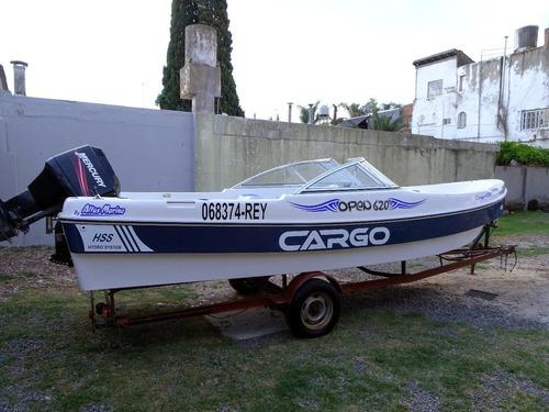 cargo open 620 con mercury 75hp 2014