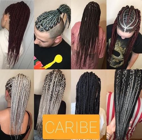 caribe! tranzas afro con extensiones