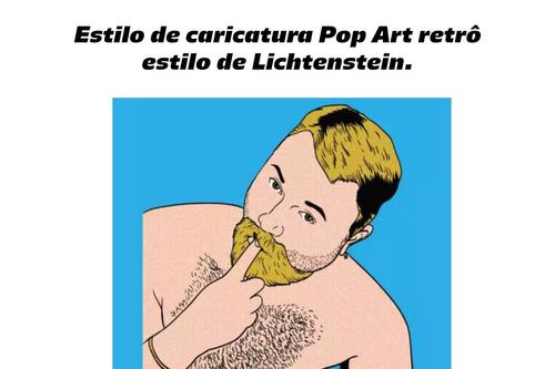 caricatura cartoon e estilo pop art retrô ( lichtenstein )