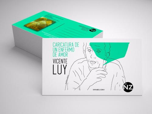 caricatura de un enfermo de amor vicente luy +postalysticker
