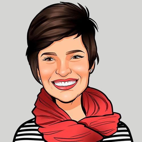 caricatura digital desenhada a mão por profissional