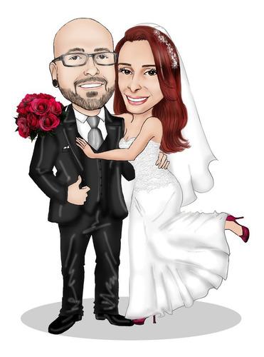 caricatura  noivos para convites, lembranças e mais