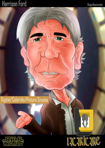 caricaturas digitais por encomendas colorização simples
