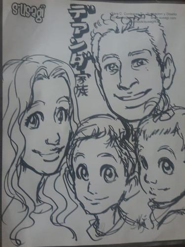 caricaturas manga para fiestas