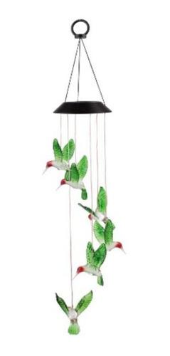 carillón de viento campanadas mariposa lámpara luz solar