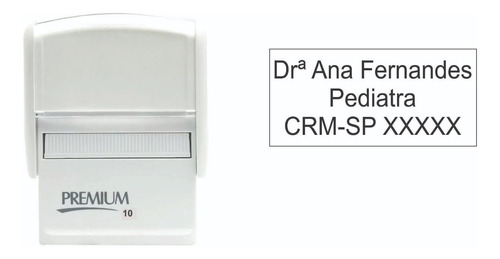carimbo automático para médicos premium 10