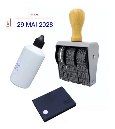 carimbo datador manual para sacaria 10 mm