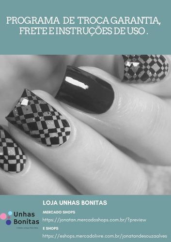 carimbo  de unhas apipila minimalista grátis 02 esmaltes