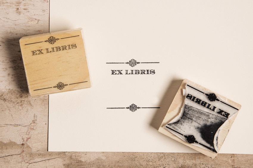 Carimbo Ex-libris Clássico - R  34 6394430a81