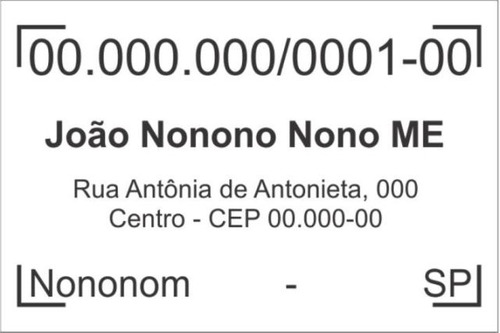 carimbo padrão cnpj ou texto livre automatico trodat 4927