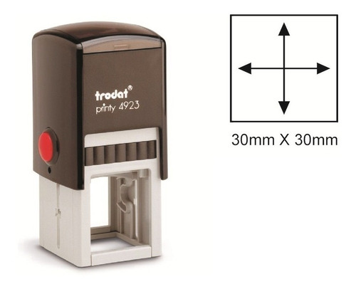 carimbo quadrado personalizado trodat 4923 30x30mm