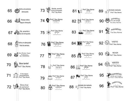 carimbos pedagógicos kit com 20 unidades