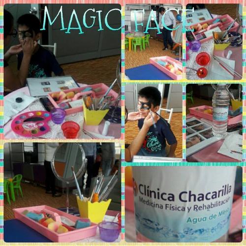 caritas pintadas magic face para show infantil evento kermes