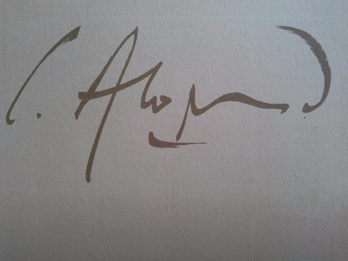 carlos alonso original litografia firmada en lapiz