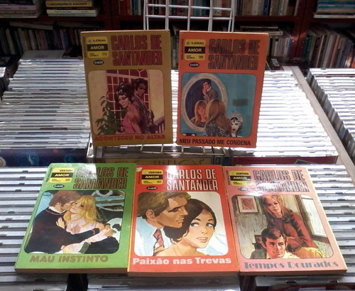 carlos de santander-5 volumes varios numeros-de bolso
