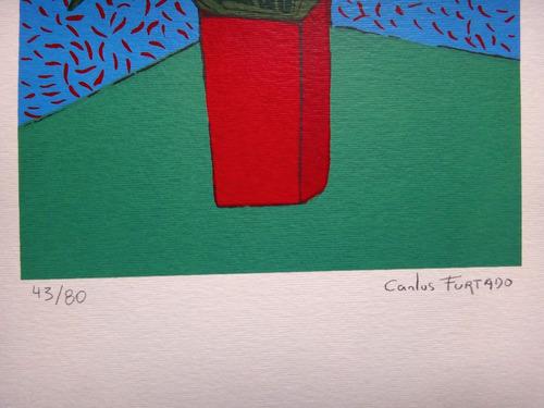 carlos furtado - flores 2 - serigrafia lúdica, muito linda!