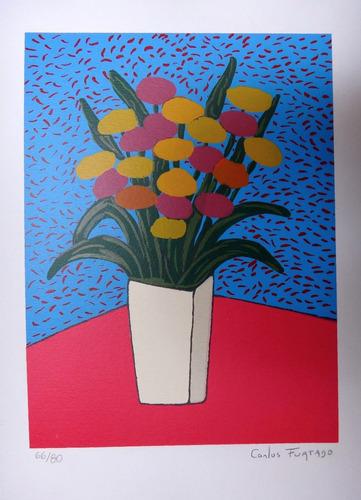 carlos furtado - flores - serigrafia lúdica, muito linda!