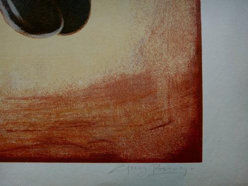 carlos passos - cavalo - serigrafia enorme vintage 80's