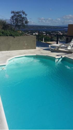 carlos paz, exc. vista al lago, piscina exclusiva