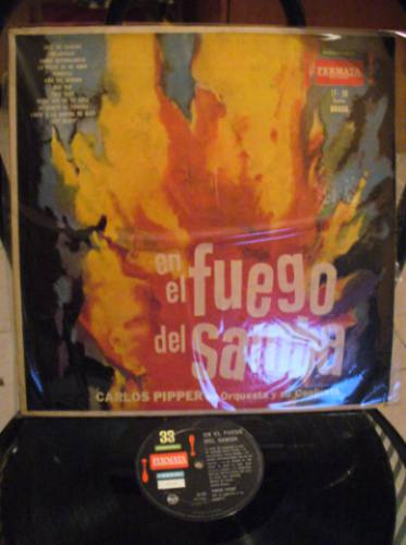 carlos piper  en el fuego del samba lp vinilo