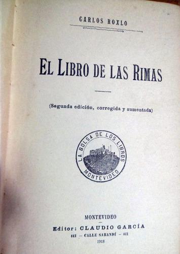 carlos roxlo el libro de las rimas año 1918