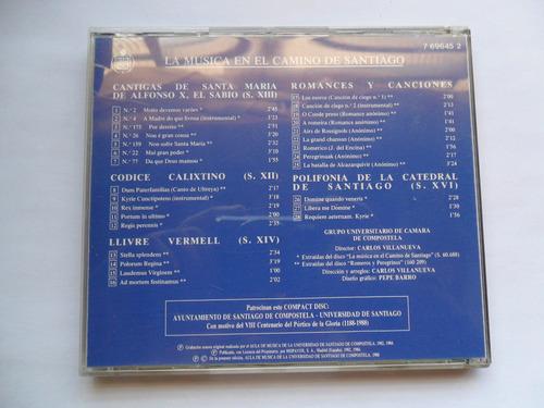 carlos vilanueva cd la musica en el camino de santiago