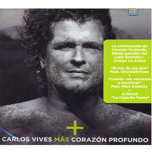 carlos vives mas corazon profundo cd / con 12 canciones