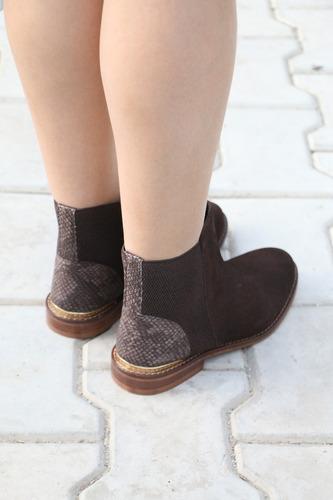 carlton london chelsie damas marr¿n chocolate botas de ante
