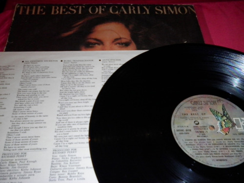 carly simon the best  lp ed.1976 disco impecable