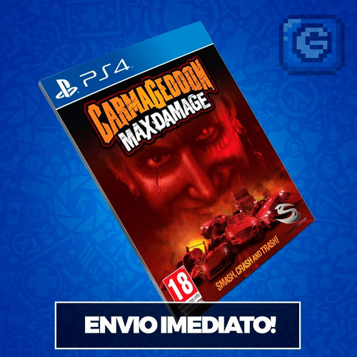 carmageddon maxps4 código 12 dígitos mídia digital imediato