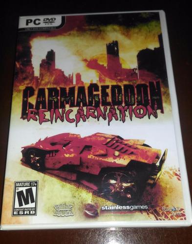 carmageddon reincarnation - pc dvd - frete 8 reais