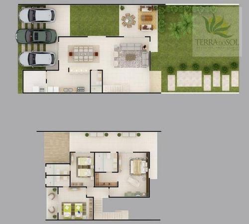 carmel bosque - condomínio de casas duplex de alto padrão. - ca0163