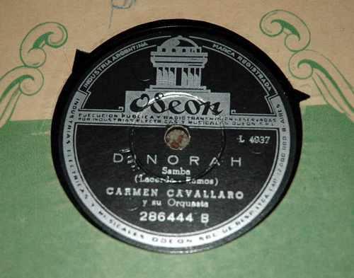 carmen cavallaro y su orquesta     enlloro - de norah 78 rpm