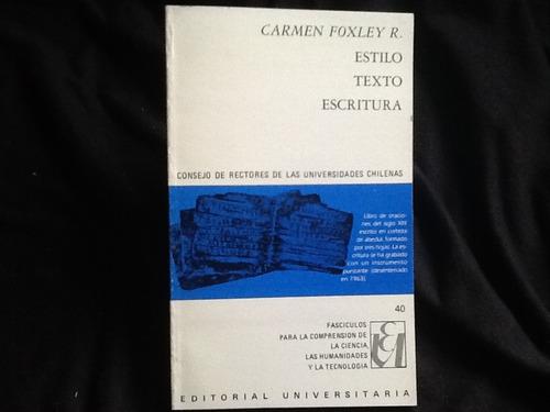 carmen foxley - estilo texto escritura.